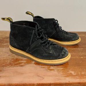 Black Suede Dr. Martens Boots Size 10